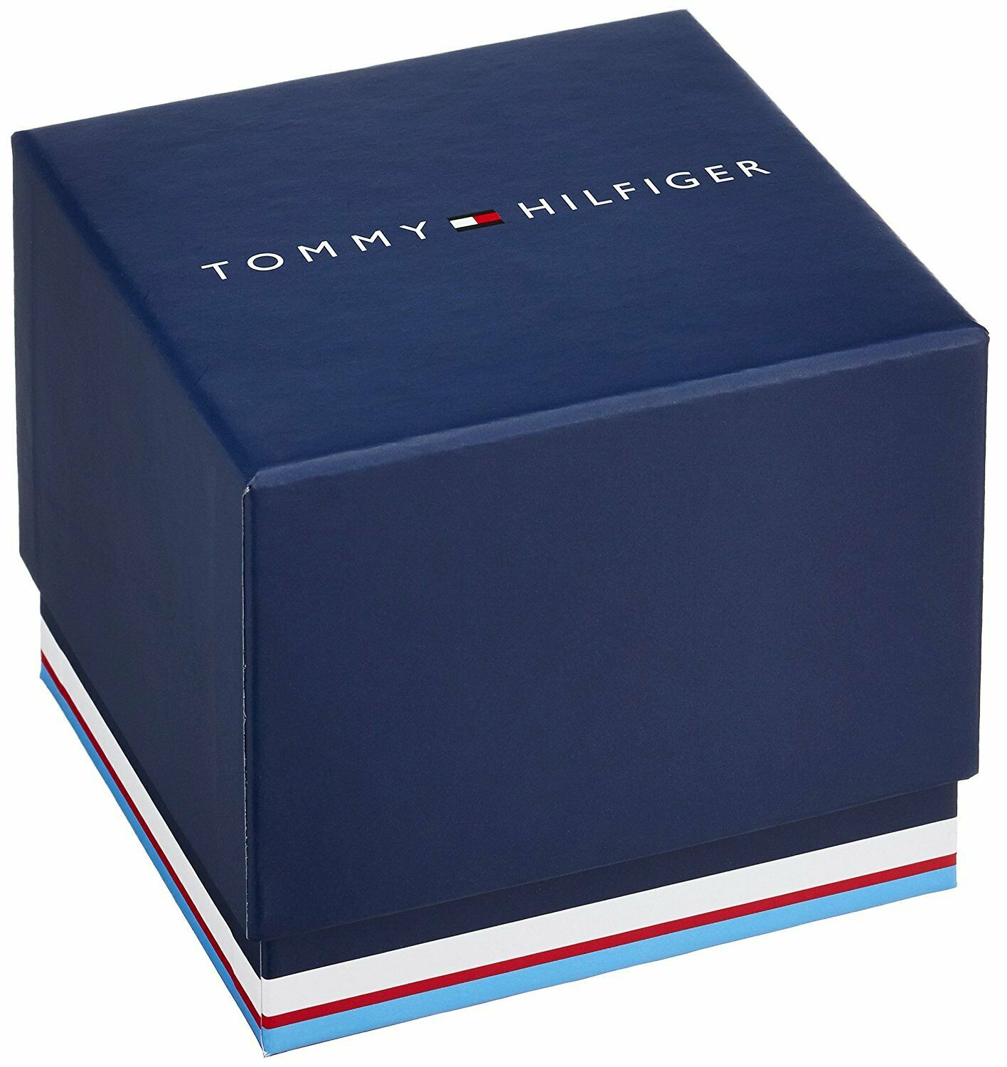 Tommy Hilfiger Men's Watch Silver Stainless Steel Blue Dial 1791354 $155