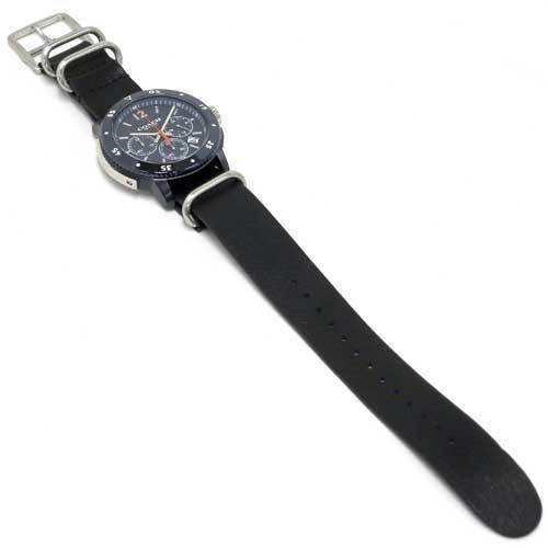 Coach Men's Bleecker Chrono Black Leather Strap Watch 42mm 14602028 $295