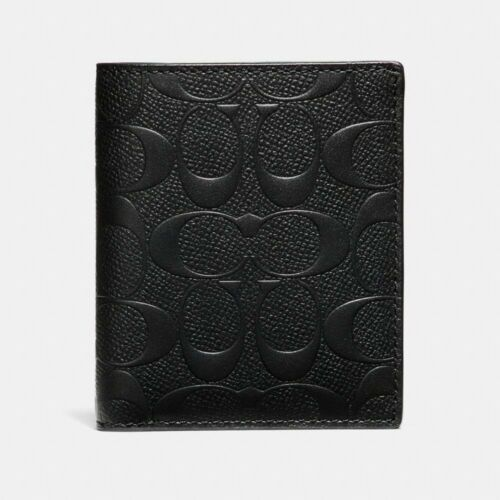 Coach F11970 Men's Slim Wallet In Signature Crossgrain Leather $185