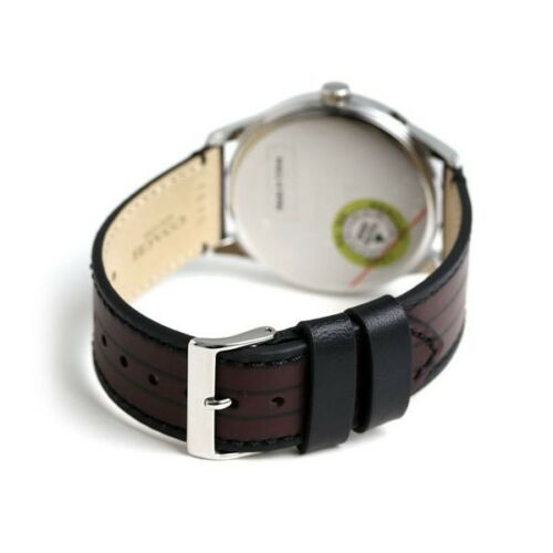 Coach Baxter Leather Strap With Varsity Stripe Men's Watch 14602367 $175