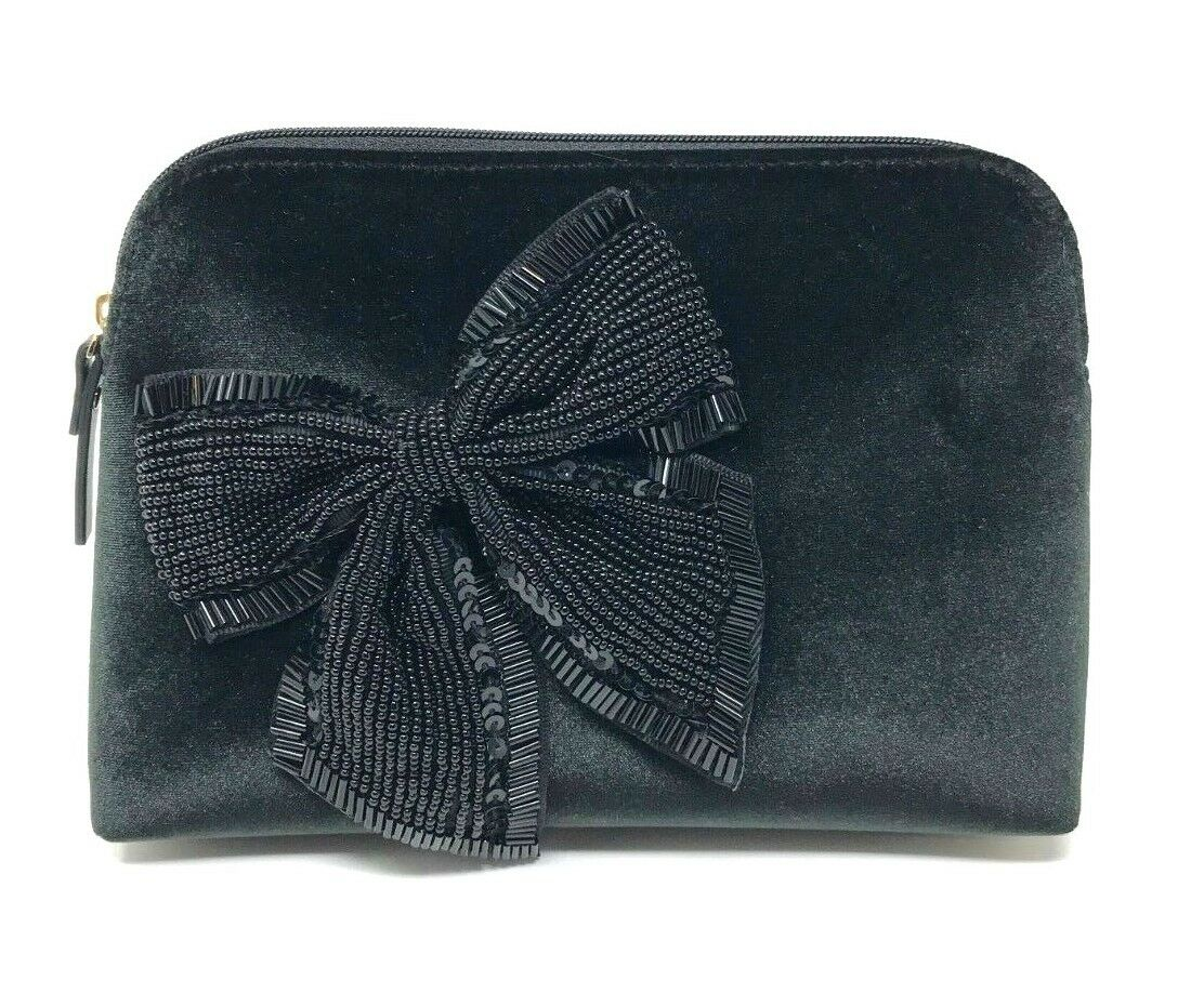 Kate Spade Cameron Street Velvet Bow Small Briley Cosmetic Bag PWRU6668 $98