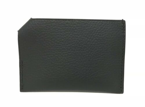 Coach Men's Credit Card Case Natural Smooth Leather Black Wallet F24659 $75