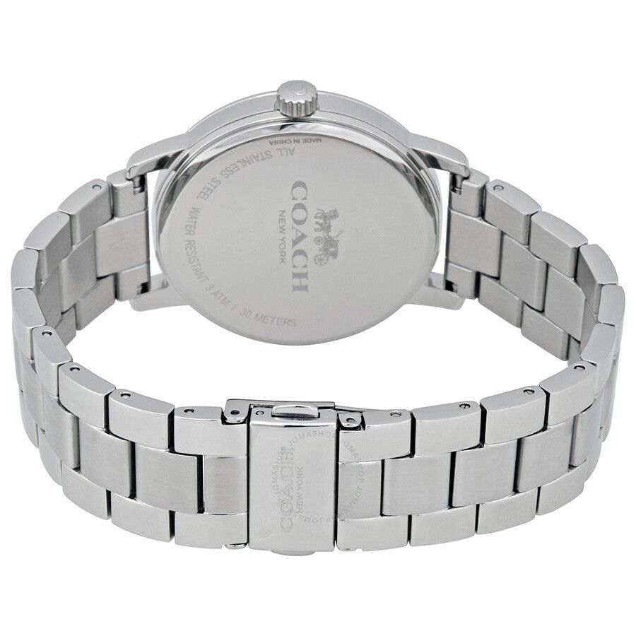 Coach Grand Silver Dial Stainless Steel Women's Watch 14502926 $195