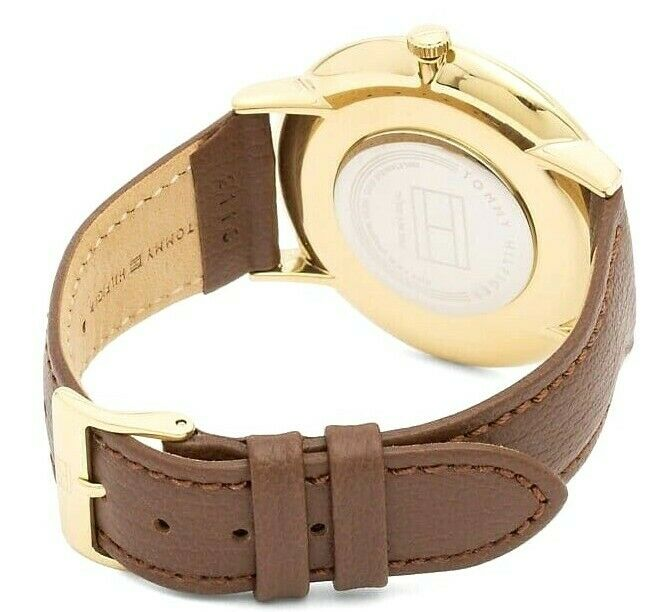 Tommy Hilfiger Women's Sophisticated Sport Gold and Leather Watch Brown 1781809