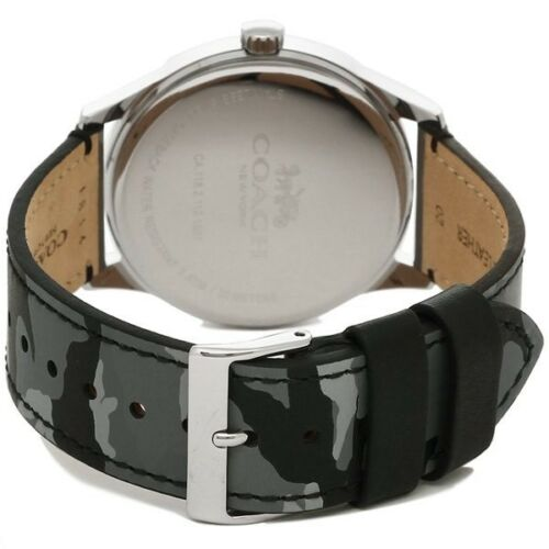 Coach Baxter Grey Camo Leather Band Men's Watch W1547 $175
