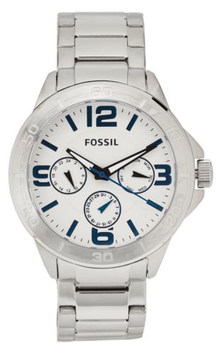 NWT Fossil Silver-Tone 43mm Men's Watch BQ2239 $145