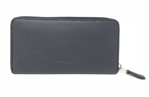 Coach Accordion Zip Women's Wallet With Bow Navy Silver Wallet F29382 $275