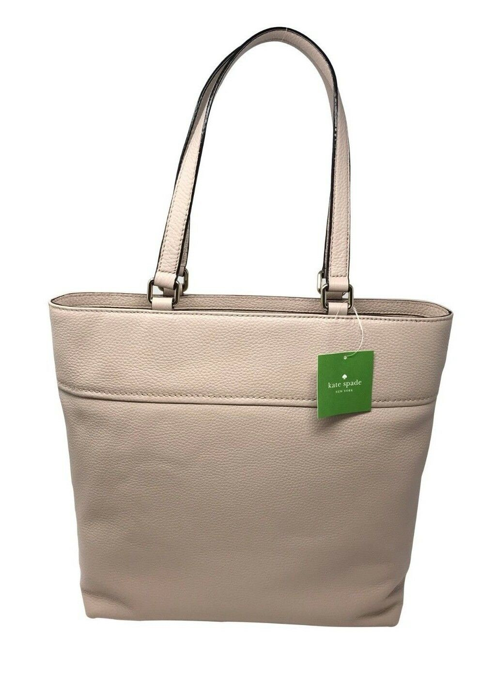 Kate Spade Cobble Hill Tayler Rose Cloud Leather Large Tote Bag PXRU7251 $298