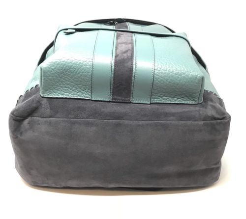 Coach Men's Charles Backpack With Baseball Stitch Leather Cyan F11250 $595