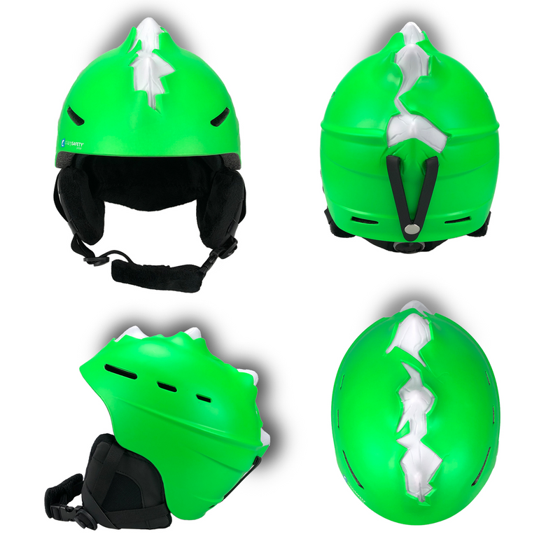 Neon Green, Bone Spike, Ski Helmet