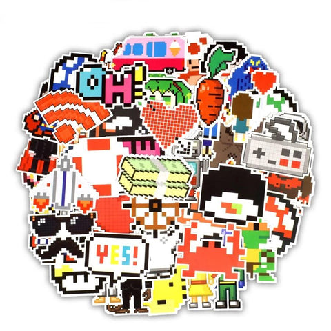 Stickers Vintage Pixel