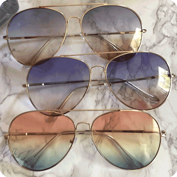 Ombre Aviators (more colors)