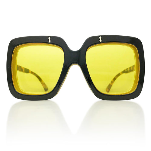 Oahu Flip Up Sunglasses in Black/Yellow