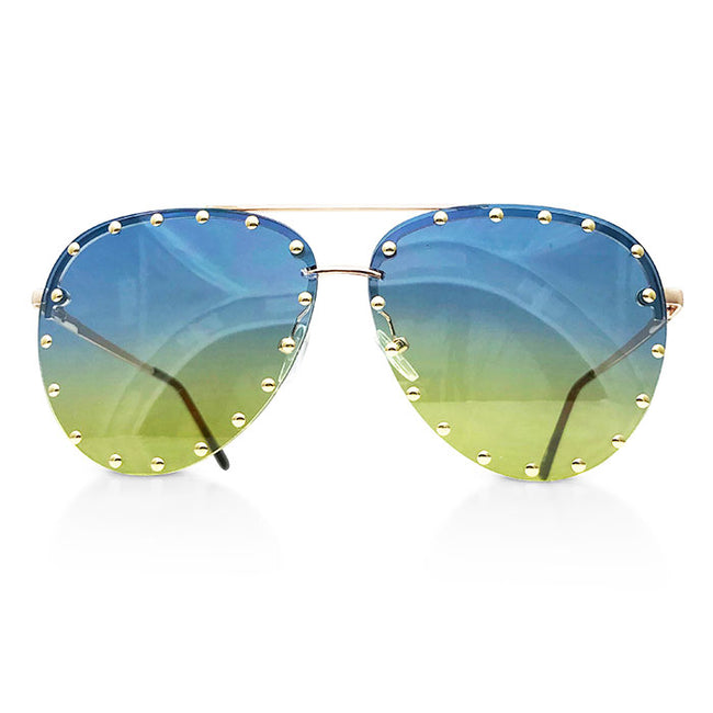 Studded Ombre Aviators (more colors)
