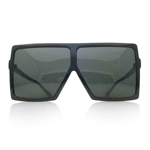 Square Flat Top Shields in Black-Out