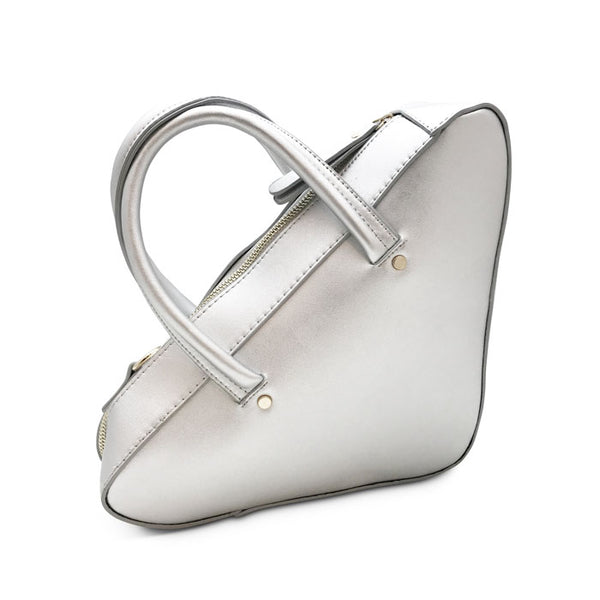 Triangle Bag in Silver