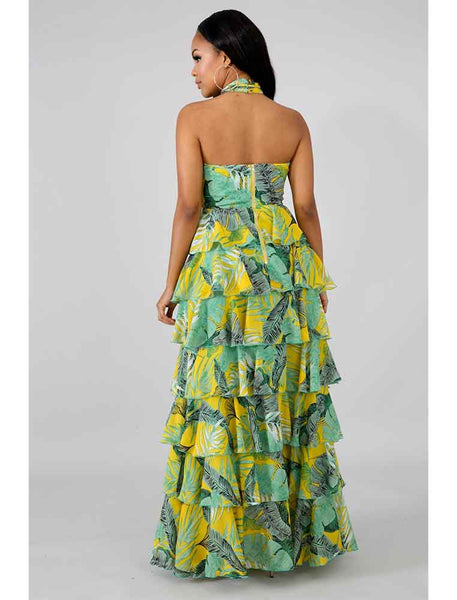 Bali Tiered Ruffle Gown