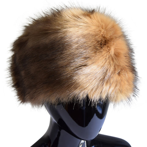 Lux Faux Fur Hat in Brown
