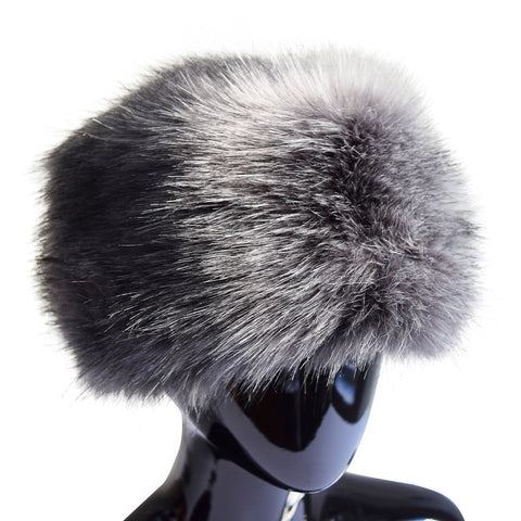 Lux Faux Fur Hat in Silver Fox