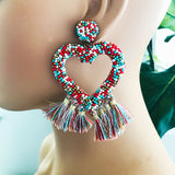 Confetti Heart Earrings (more colors)