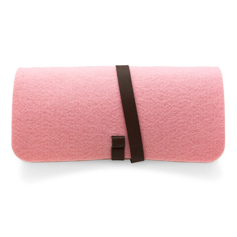 Pink Felt Pouch for Sunglasses