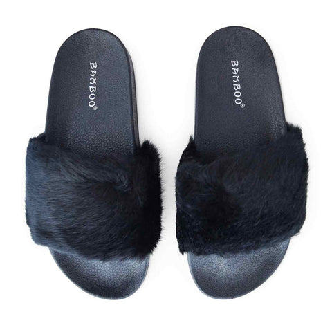 Lush Slides in Black