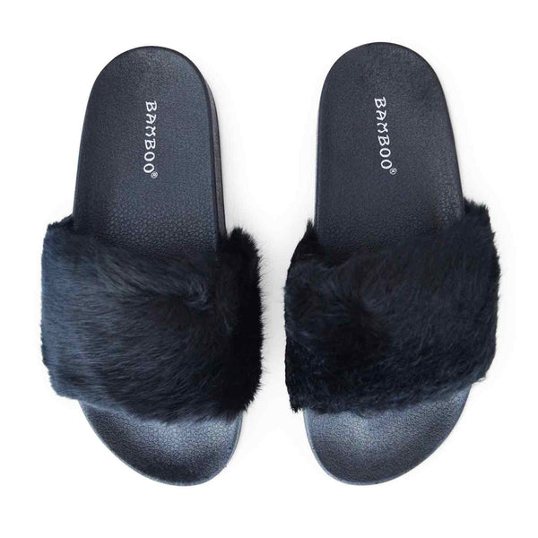 Lush Slides in Black (ONLY SIZE 7 LEFT)