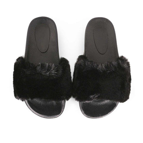 Minky Slides in Black