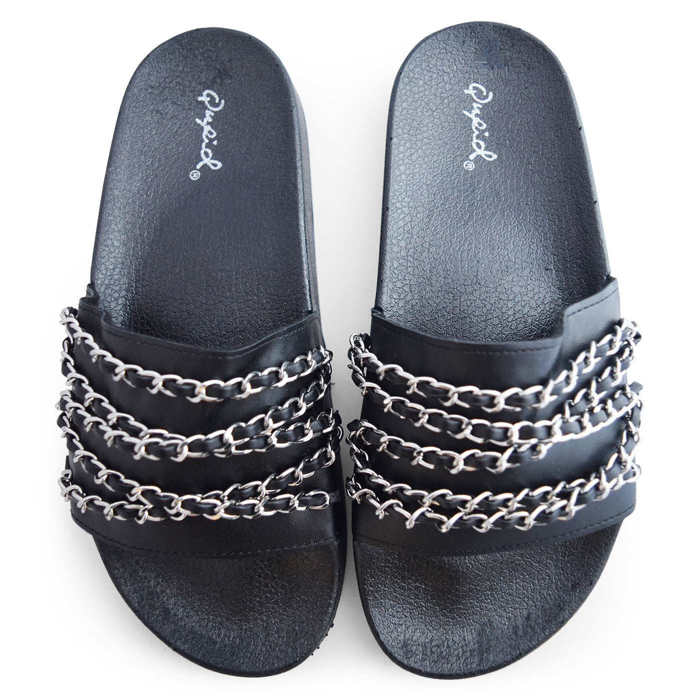 Chain Slides in Black