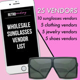 Wholesale Sunglasses Vendor List