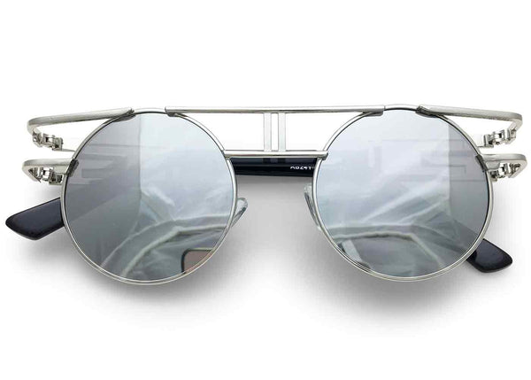 Chi' Glasses in Mirrored Silver