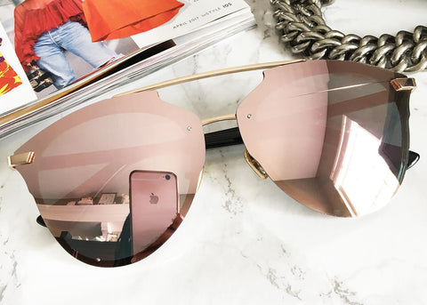 Currency Aviators in Rose Gold