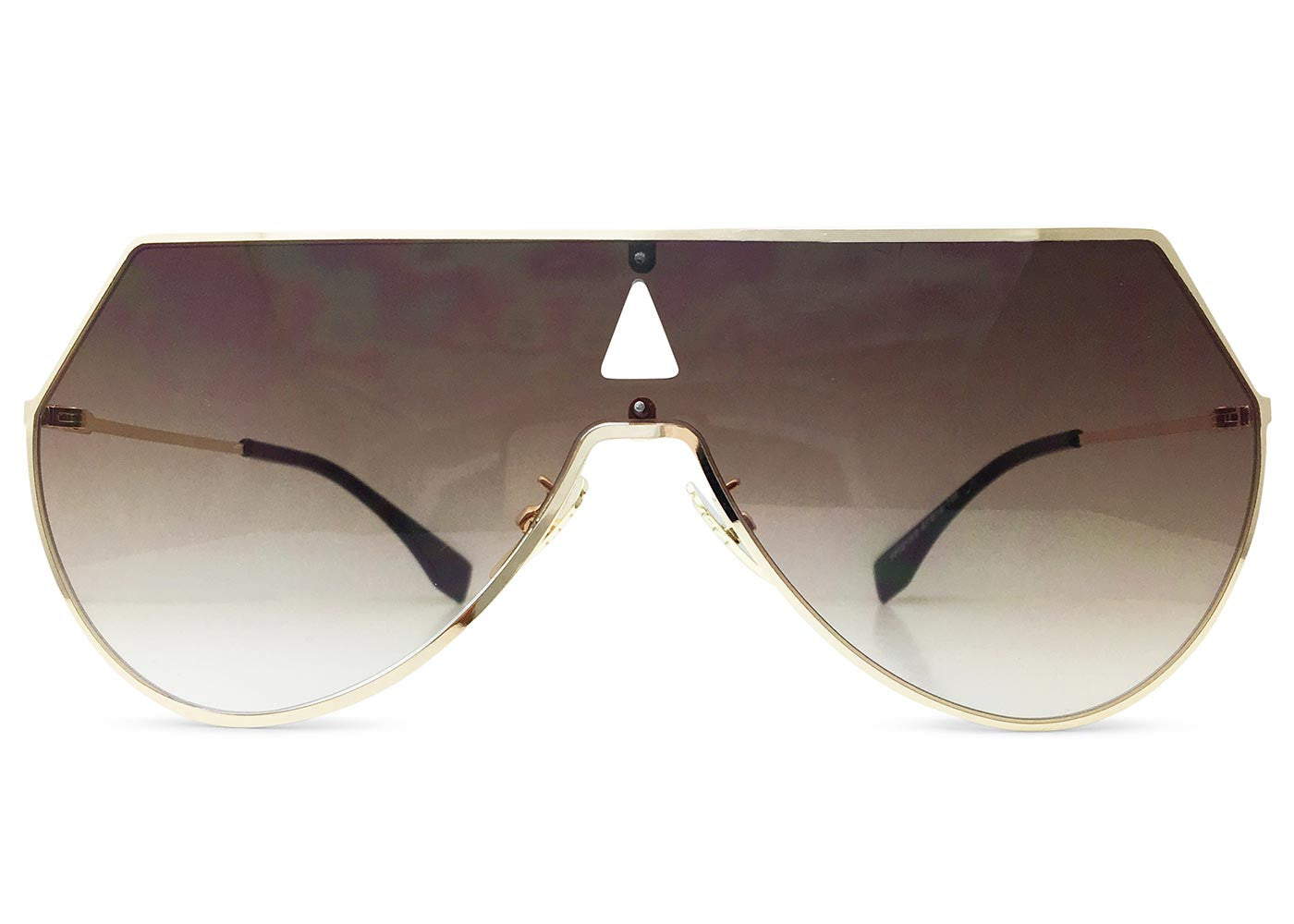 Flatliner Aviators in Brown Gradient