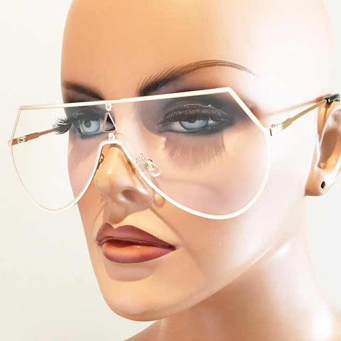 Flatliner Aviators with Clear Lenses