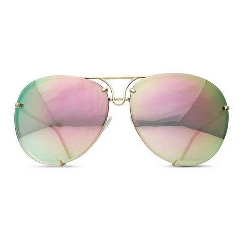 Giatta Aviators in Mirrored Angel with Gold Frames