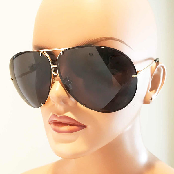Giatta Evolution Aviators in Black/Gold