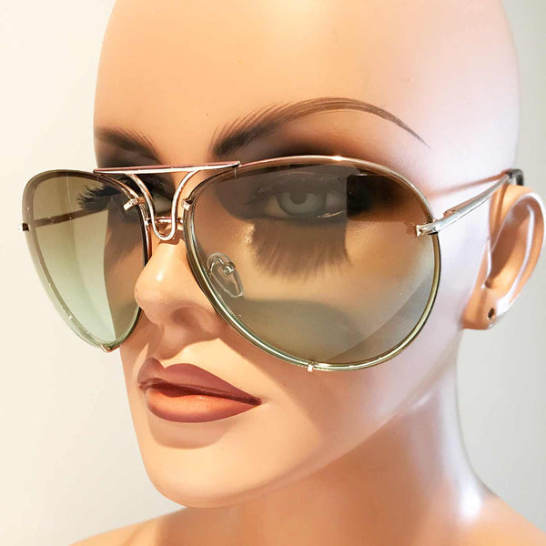 Oversized Giatta Aviators in Lux