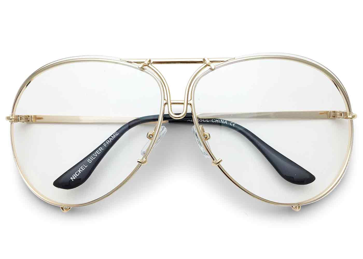 """Goldie"" Oversized Giatta Aviators"