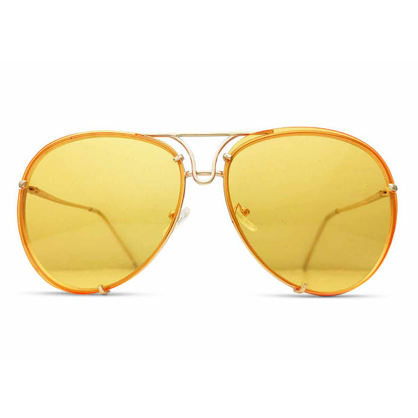 Oversized Giatta Aviators in Flight Yellow