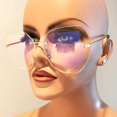 Hexie Rimless Glasses