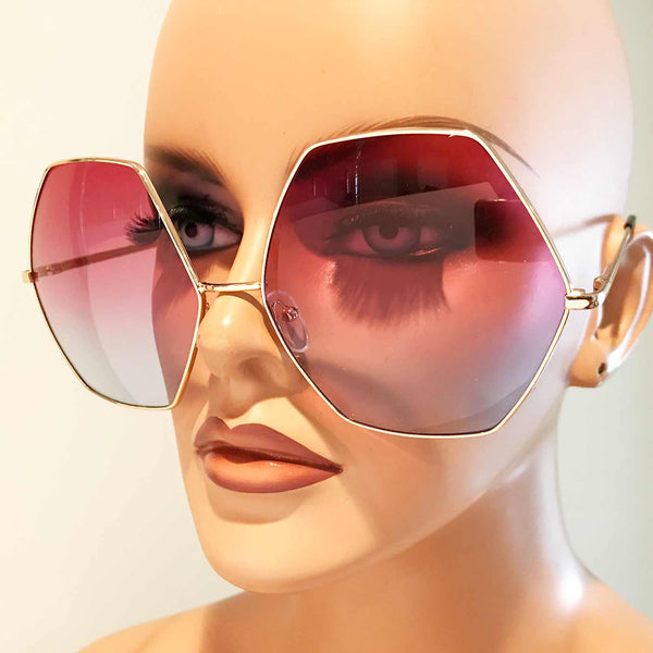 Hexagon Sunglasses in True Ombre