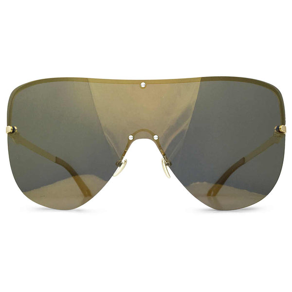 L.A. Shield Sunglasses in Antique Gold