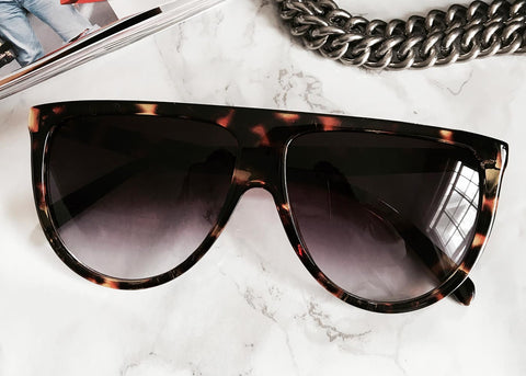 Lux Flat Top Sunglasses in Tortoise
