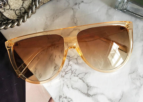 Lux Flat Top Sunglasses in Honey