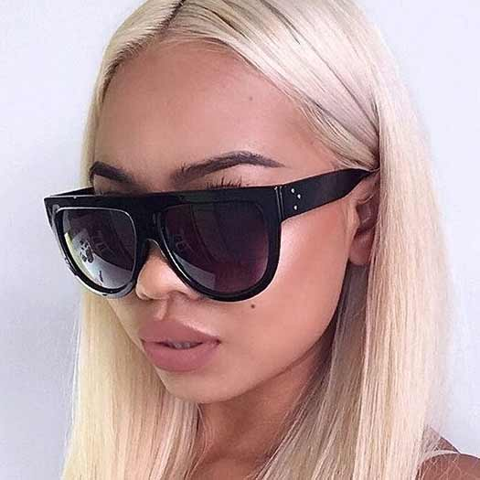 f3b1917e7eb Flat Top Monicas in Black. Sold Out. These famous Designer Inspired Flat  Top Shadow Sunglasses ...