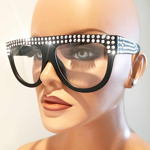 Flat Top Monica Glasses with Crystals