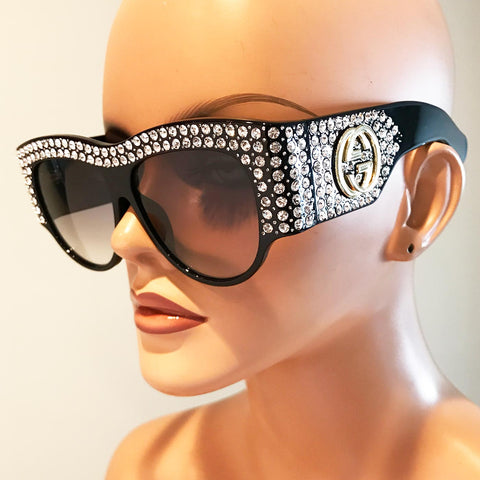 Designer Inspired Crystal Sunglasses