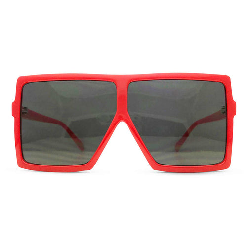 Square Flat Top Shields in Red