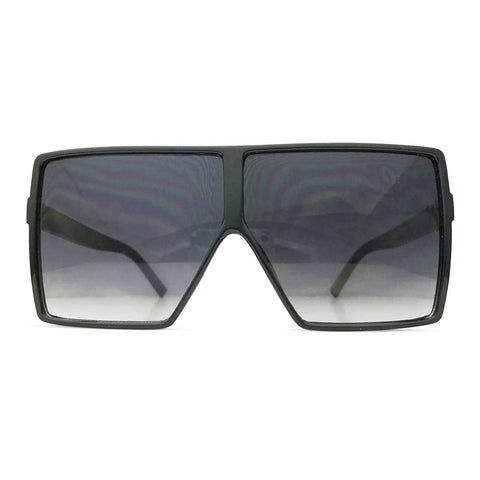 Square Flat Top Shields in Gradient Black