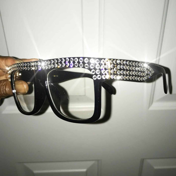 Crystal Embellished ZZ Glasses